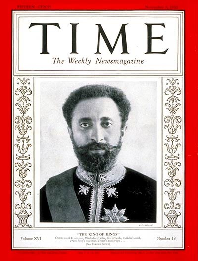 Selassie on Time Magazine cover 1930