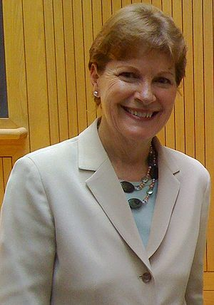 Jeanne Shaheen - Shaheen on the campaign trail at Dartmouth College, July 2008