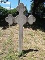 Serbian cemetery. Carved stone cross of a Serbian captain. Monument ID 3796. - Szentendre, Martinovics street.JPG