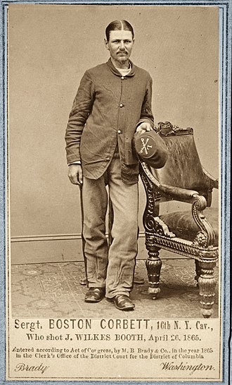 Boston Corbett - Sgt. Boston Corbett, Union Army.