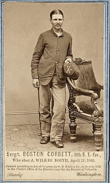 File:Sergent Boston Corbett, 16th N.Y. Cav. Who shot J. Wilkes Booth, April 26, 1865. (2719965829).jpg