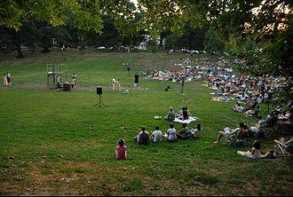 Clark Park - Image: Shakespeare in Clark Park