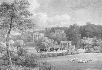 Sheffield General Cemetery - The Cemetery in the 1830s, seen from Ecclesall Road.