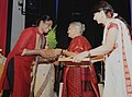 Sheila Dikshit felicitated the outstanding women employees of Railways, at the Women's Day Award function, organized by the Railway Women's Welfare Central Organisation, in New Delhi on March 08, 2011 (1).jpg