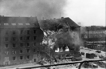 The RAF's bombing of Gestapo headquarters in March 1945 was coordinated with the Danish resistance movement Shellhuset 210345.jpg