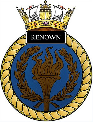 HMS Renown (S26) - Image: Ships crest of HMS Renown (S26)