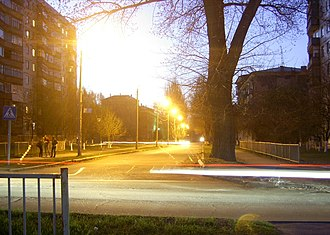 Kramatorsk - Street junction in Kramatorsk