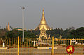 Shwedagon Pagoda across people's square.JPG