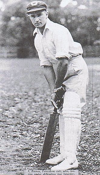 Sid Barnes - Barnes, aged 16, as a Petersham player