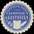 Siegelmarke Gemeinde Gersthofen K. Bayern W0352365.jpg