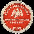 Siegelmarke Königl. Preussisches 2. Badisches Feldartillerie Regiment No. 50 W0311331.jpg