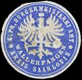 Siegelmarke K.Pr. Bürgermeisterei Amt Wallerfangen Kreis Saarlouis W0382717.jpg