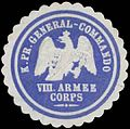 Siegelmarke K.Pr. General-Commando VIII. Armee Corps W0387132.jpg