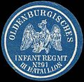 Siegelmarke Oldenburgisches Infanterie Regiment No. 91 III. Bataillon W0285438.jpg