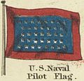 Signals for Pilots. U.S. Naval Pilot Flag. Johnson's new chart of national emblems, 1868.jpg