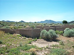 Foundation of the smelter in Silver City