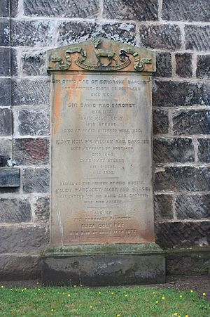 David Rae, Lord Eskgrove - Sir David Rae's grave, Inveresk