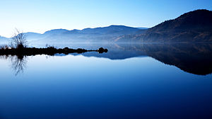 Penticton - Skaha Lake sits along the Okanagan River near Penticton.