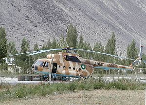 2009 Pakistan Army Mil Mi-17 crash - A Pakistan Army Mi-17 helicopter, similar to the crashed aircraft
