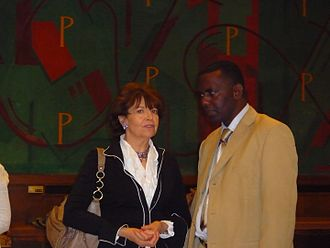 Slavery in Mauritania - Marie-José Domestici-Met (CNCDH) and Biram Dah Abeid who in 2009 was sentenced to six months in prison for allegedly taking part in unauthorised rally.