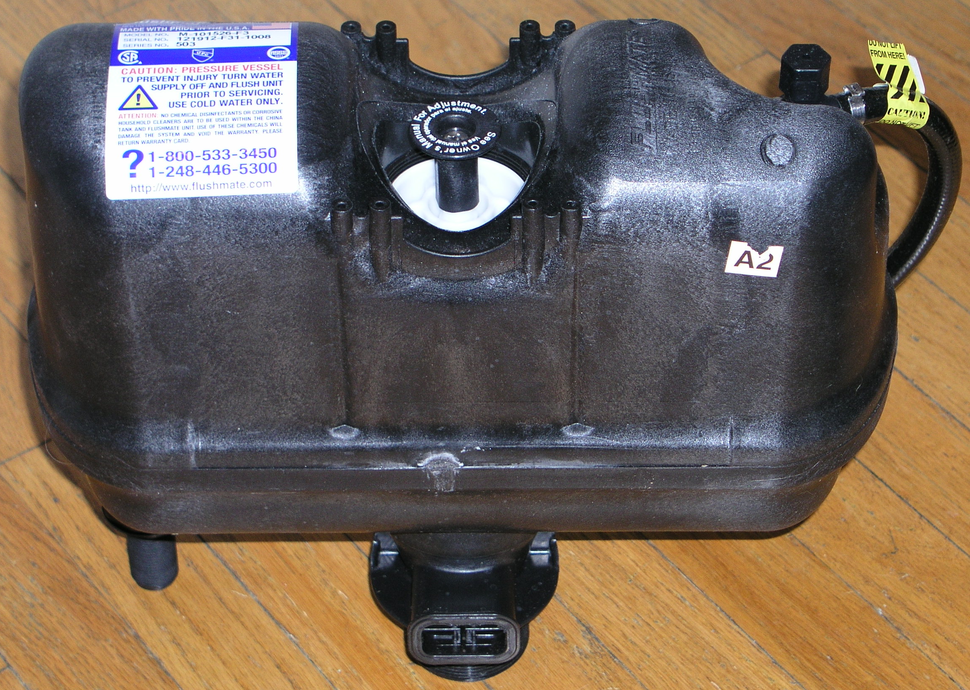 Sloan pressure vessel from a Gerber Powerflush toilet