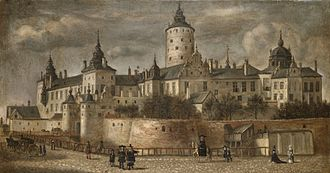 Govert Dircksz Camphuysen - Castle Tre Kronor in Stockholm; painting from 1661.
