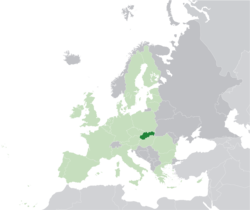 Location of Slovakia