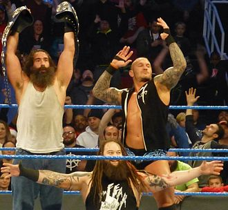 WrestleMania 33 - Randy Orton (right) and Bray Wyatt (below) faced off at WrestleMania 33 for the WWE Championship, in a feud that also involved Luke Harper (left)