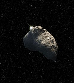 Artist's rendition of a small Kuiper belt object. Image: NASA.