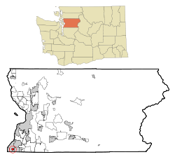 Snohomish County Washington Incorporated and Unincorporated areas Esperance Highlighted.svg