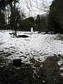 Snowman alongside footpath from Wodeland Avenue to The Mount - geograph.org.uk - 1155533.jpg