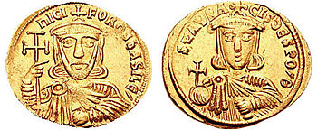 Nikephorus I and his son Staurakios
