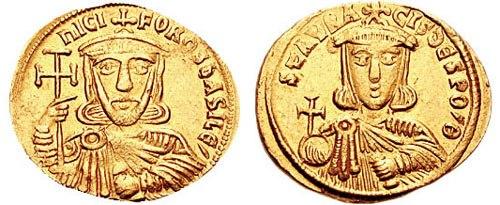 Solidus-Nicephorus I and Staraucius-sb1604