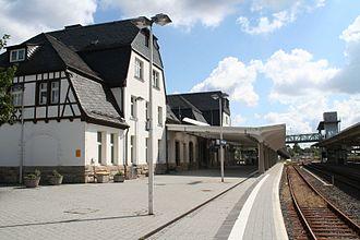 Coburg–Sonneberg railway - Sonneberg Hauptbahnhof