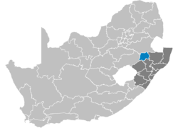 Ligging Amajuba District Municipality