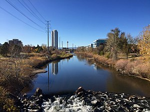 South Platte River - South Platte River in Denver, Colorado