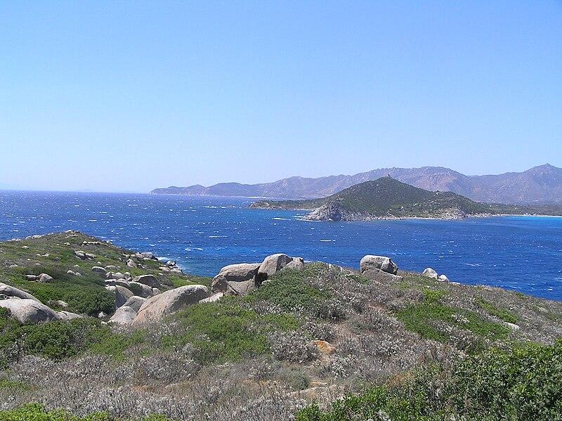 File:South side of Cape Carbonara.JPG