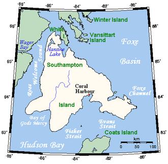 Southampton Island - Southampton Island within Nunavut
