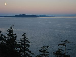 Haro Strait - View of Haro Strait from North Pender Island