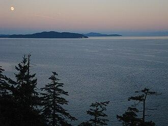 Haro Strait - View of Haro Strait from North Pender Island