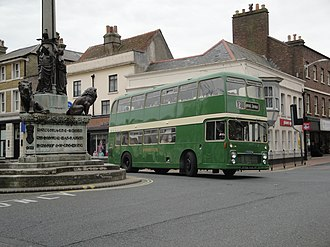 Isle of Wight Bus & Coach Museum - Bristol VR Previously run by Southern Vectis 628 SDL638J St James Square, Newport.