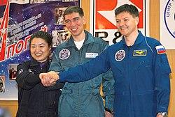 v.l.n.r. Yi So-yeon, Sergei Wolkow, Oleg Kononenko