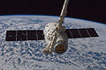 SpaceX CRS-1 is grappled by Canadarm2.jpg