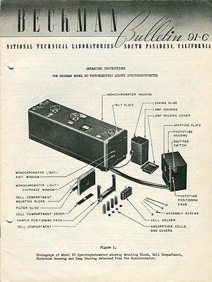 DU spectrophotometer - DU Spectrophotometer, National Technical Laboratories, 1947