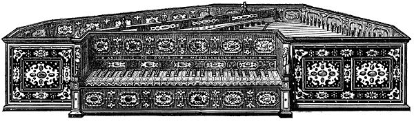A pentagonal spinet from 1577; 49 keys