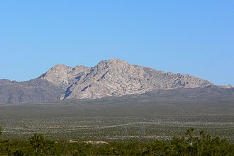 Spirit Mountain (Nevada) - View from the west