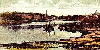 Squamscott River - Squamscott River in 1908, Exeter, New Hampshire