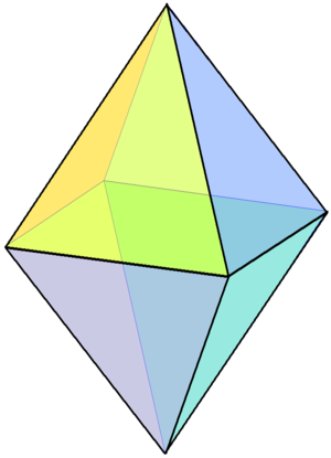 Square pyramid - Image: Square bipyramid