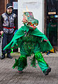 St Albans Mummers production of St George and the Dragon, Boxing Day 2015-1.jpg