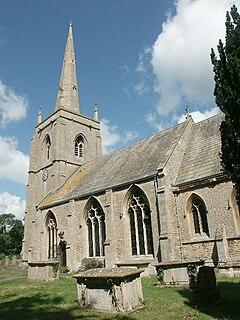 Old church in Quarrington, England